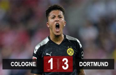 Cologne 1-3 Dortmund: Sancho lại tỏa sáng