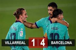 Villarreal 1-4 Barca: Níu giữ hi vọng mong manh