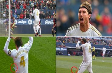 Chọc tức fan Osasuna, Ramos dính ngay 'vật thể lạ'