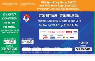 Thông tin mới nhất về phát hành vé 2 trận vòng loại World Cup