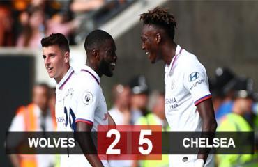 Wolves 2-5 Chelsea: Abraham rực sáng lập hat-trick đốt cháy hang Sói