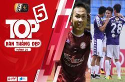 Top 5 bàn thắng đẹp vòng 21 V-League 2019